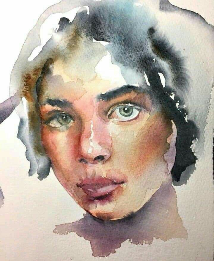 Pin By Bertha Short On Mymix Portrait Art Watercolor Portrait
