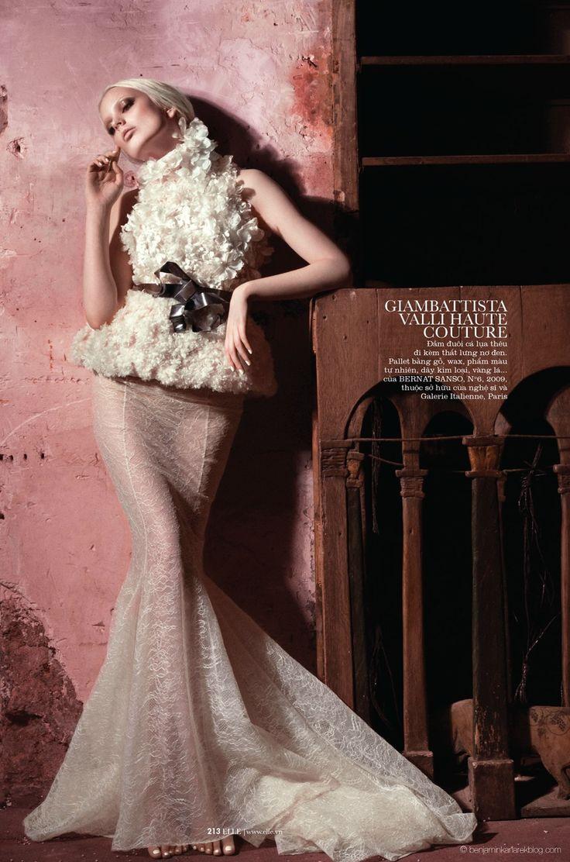 Dark Couture, Chrysal Copland by Benjamin Kanarek / Elle Vietnam September 2013 in Giambattista Valli