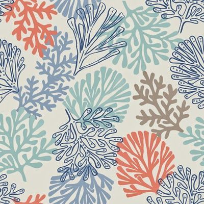 Coral fabric print