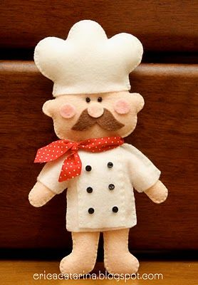chef! A little sewing inspiration. There are some cute ballerinas on this site too. Some good inspiration.