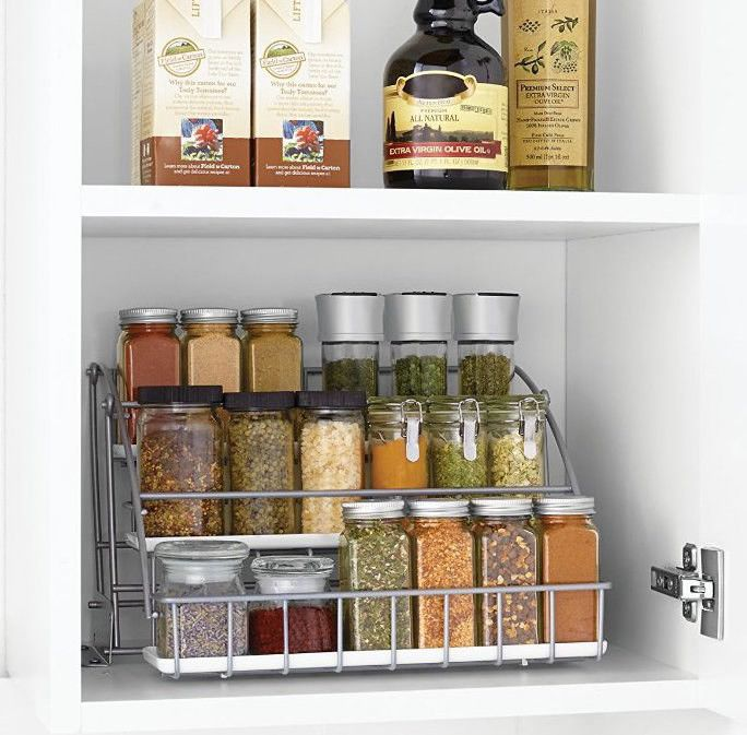 Or make your spices easier to reach with a pull-down rack.   47 Storage Ideas That Will Organize Your Entire House