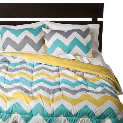Room Essentials® Chevron Comforter - White -Target has a bunch of cute comforters