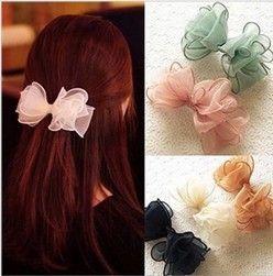 2013 Korean Style Fashion Chiffon Bow Hair Clip Hair Accessories Barrettes For Women-in Hair Accessories from Apparel & Accessories on Aliex...
