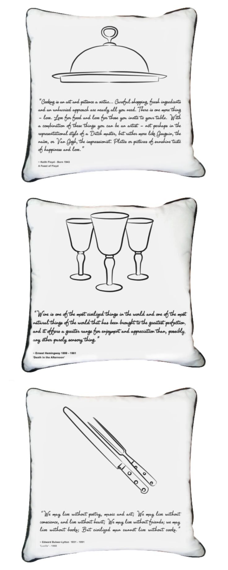 Start a conversation with our Feast Scatter Cushions! #white #cushion #decor #quote