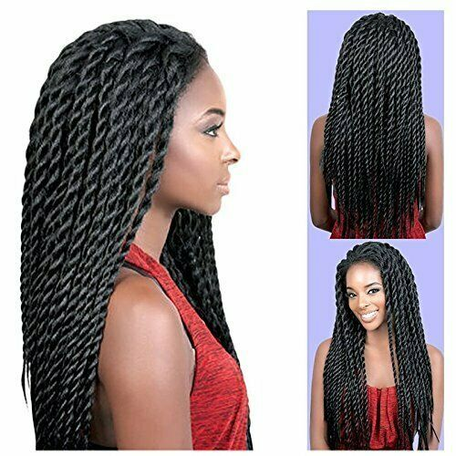Synthetic Braided Lace Front Wigs African American Twist Braids wigs for Black W…