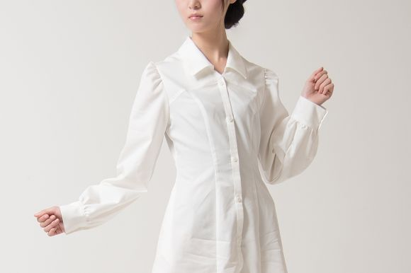 Stylish Japanese boyfriends dress shirt dresses are boyish and girlish all at once