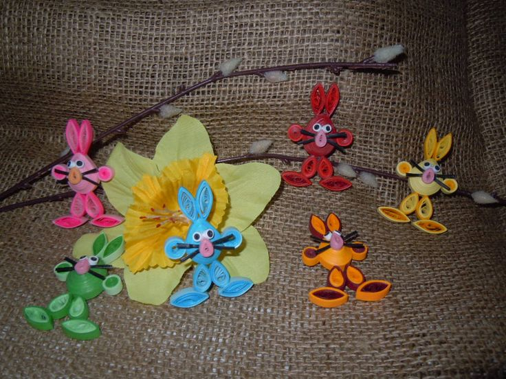 2014 - Easter decoration / my creation,idea taken from the Internet /Facebook.com/Zdenka Quilling