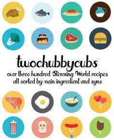PLEASE LIKE AND SHARE! Over 300 Slimming World friendly recipes from the guys at twochubbycubs - all sorted by their main ingredient! We've got stews, burgers, pizzas, pasta, chicken...all sorts! So many syn-free recipes. It's a completely free of charge recipe list - enjoy! Please share!