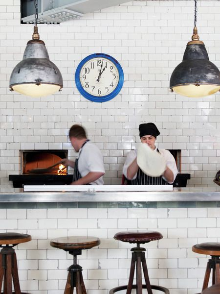 pizza east . london - love white metro tiles and industrial lights but what's the new kid on the block?