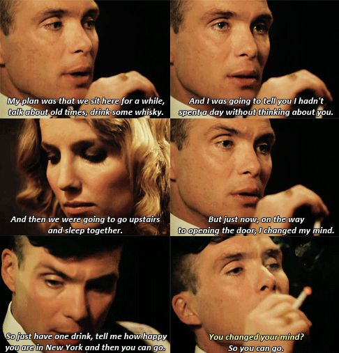 Tommy Shelby, the master of manipulation. I love him so much