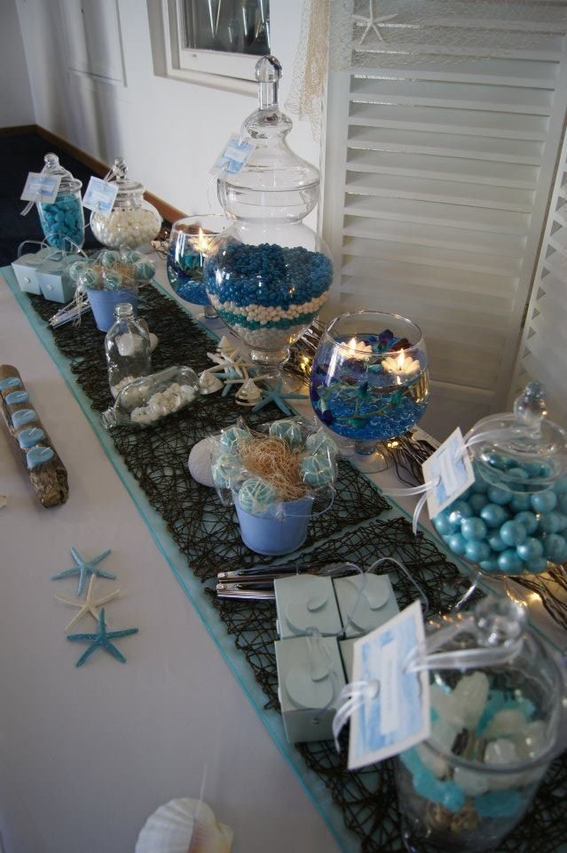 Beach Themed Candy Buffet