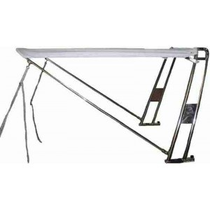 Bimini antivuelco con arco simple y toldo de sol a proa, longitud de 190cm. Disponible en varias medidas y colores. A partir de 1377€.
