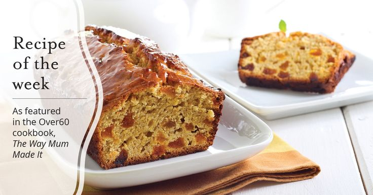 As featured in the Over60 cookbook, here Lyn shares her scrumptious apricot bran loaf recipe.