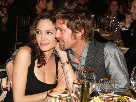 Brad and Angelina Jolie