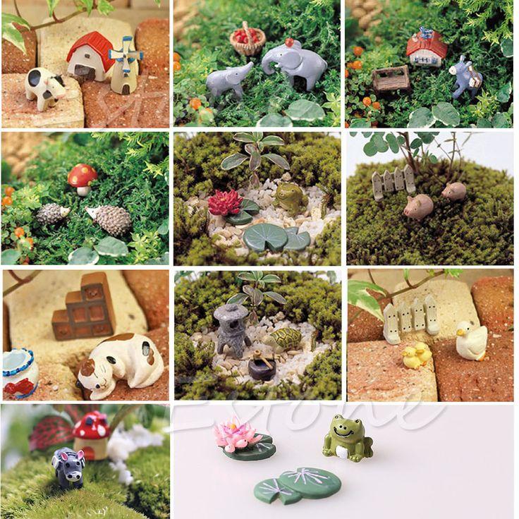 3Pcs Mini Dollhouse Bonsai Craft Garden Ornament For Plant Pots Fairy Garden New
