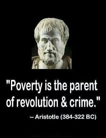 Maybe at the time this man was on earth that was the actual problem. Today it is POVERTY and also ISOLATIONISM AND SEPARATISM. When being done to the poor. Monetary Charity is not the solution. It is inclusion and  good will.