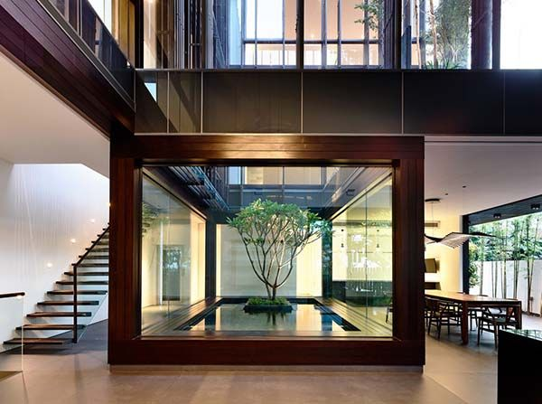 Stunning home in Singapore wrapped around central courtyard