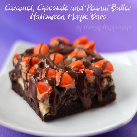 Hungry Happenings: Caramel, Chocolate and Peanut Butter Halloween Magic Bars
