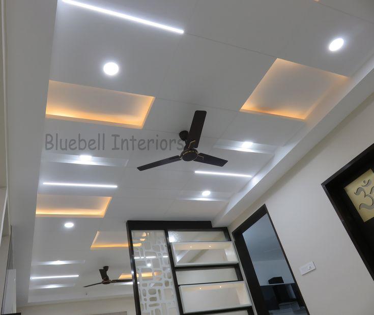 living room false ceiling, warm white conceal light ...