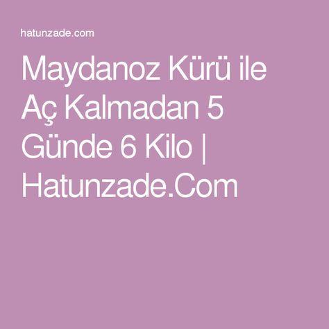 Maydanoz Kürü ile Aç Kalmadan 5 Günde 6 Kilo   Hatunzade.Com