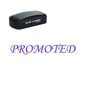 #Slim Pre-Inked #Promoted #Stamp. Acorn Sales carries many types of office stamps including a Self-Inking 'Promoted' Stamp in many ink colors. Call us for more information.