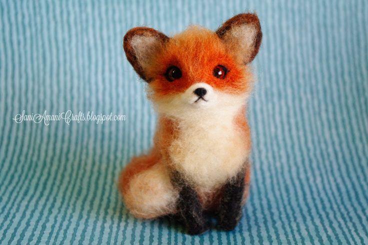SaniAmaniCrafts: Needle felting - (part XII - Little Red Fox)