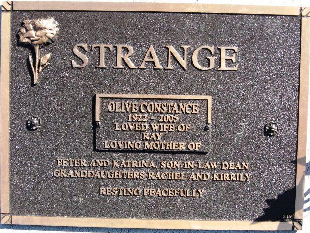 Olive Constance Wittingslow Strange (1922 - 2005) - Find A Grave Photos