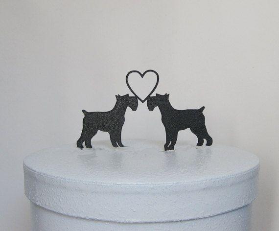 Wedding Cake Topper  Schnauzer  Dogs by Plasticsmith on Etsy, $20.00