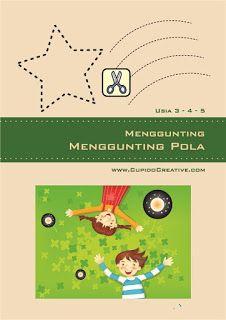 buku berlatih menggunting untuk balita (usia 3-4-5 tahun), latihan motorik paud