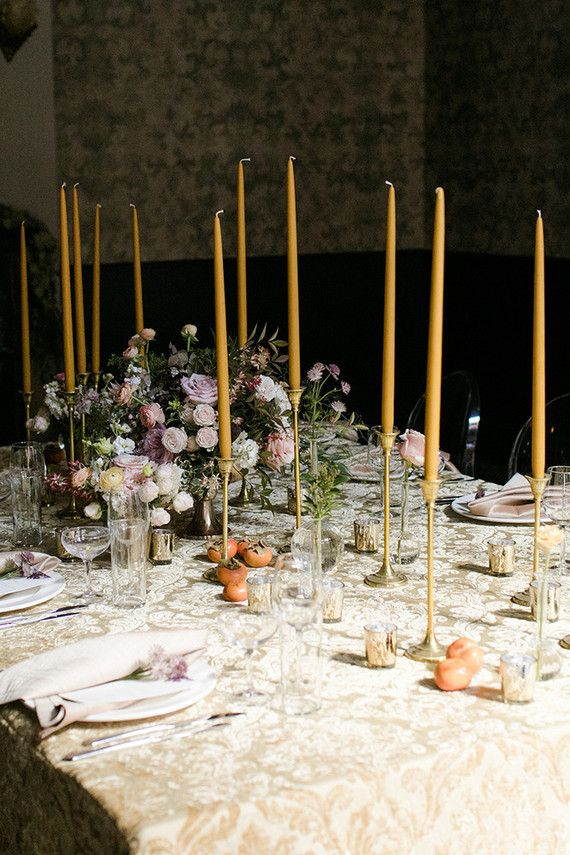 Moody wedding decor