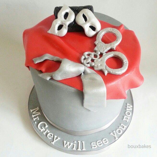 50 shades of grey birthday cake