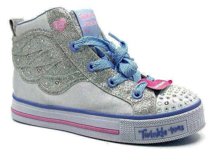 eBay #Sponsored Skechers Girls Twinkle Toes Shuffle Lite