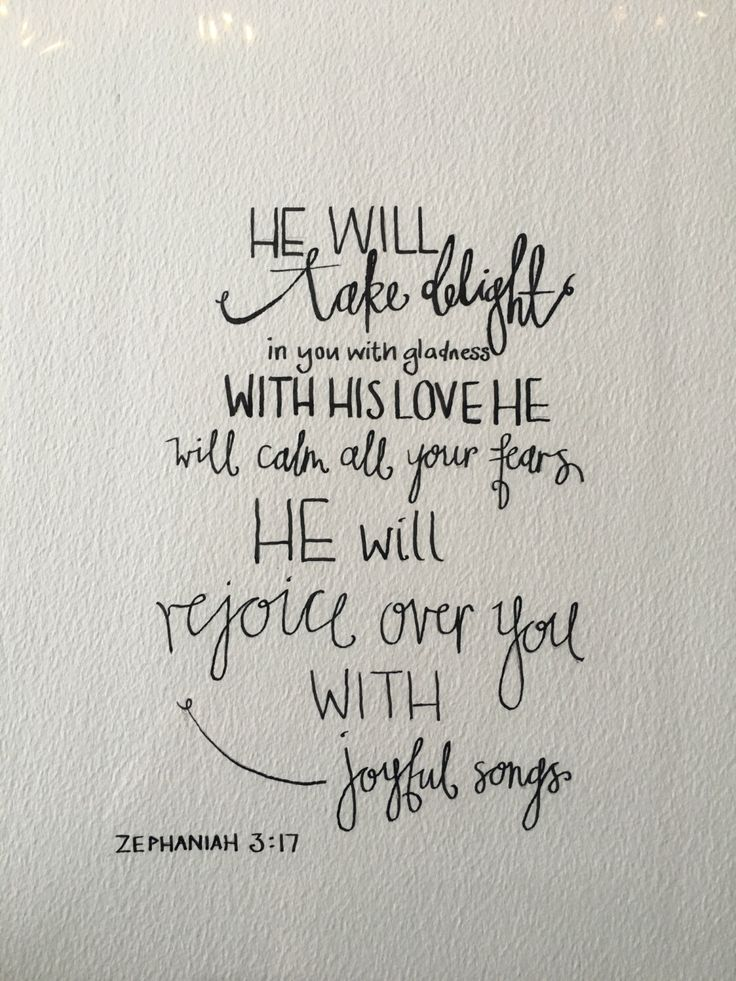 "Zephaniah 3:17 ""Rejoice over you with singing"" by CalligraphyArk on Etsy https://www.etsy.com/au/listing/398143605/zephaniah-317-rejoice-over-you-with"