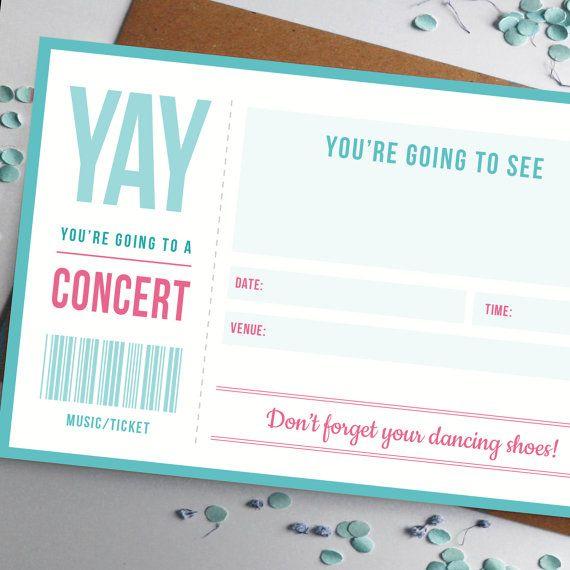 Best 25+ Concert ticket template ideas on Pinterest Concert - make your own concert tickets