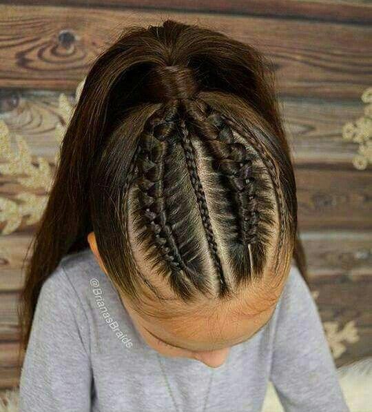Weibliche Frisuren   Einfache Frisuren für Kinder mit mittlerem Haar   Niedliche Haarzöpfe für kleine Mädchen 20190304