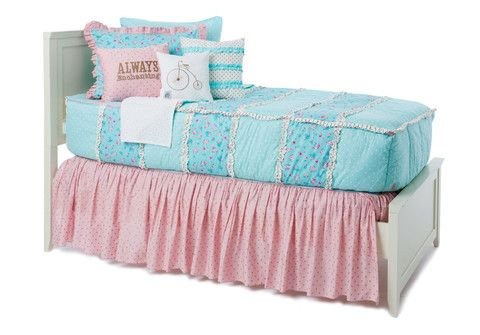 Always Enchanting Pink/Gold Bed Skirt looks great with our floral bedding