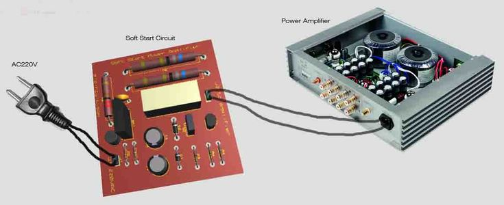 wiring diagram connection soft start circuit