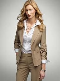 Banker outfit...Ladies should wear suit looking outfit so clients & co-workers will respect you & take you serious