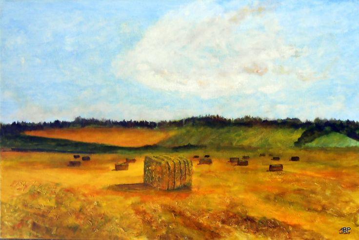 Høst maleri udstillet på Galleri ThyArts Parkvej Vilsund