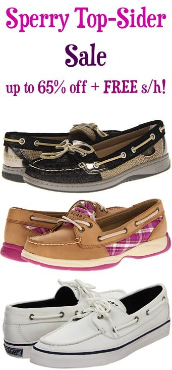Sperry Top-Sider Shoe Sale: up to 65% off + FREE Shipping! TheFrugalGirls.com ( #RealDeal I checked it out!)