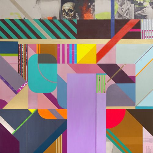 """Clark Goolsby, """"Expanded View"""", mixed media on canvas, 62"""