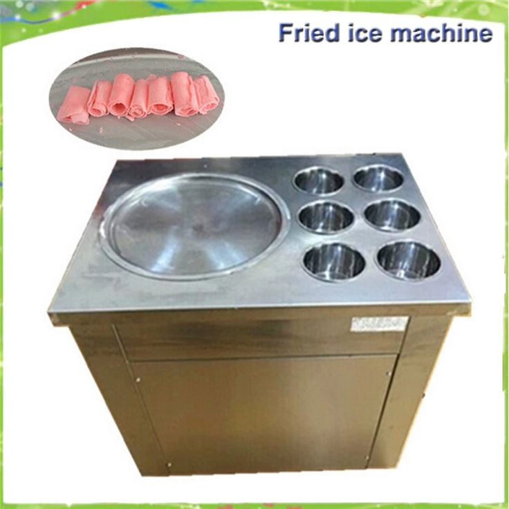 1280.00$  Watch here - http://alikkw.worldwells.pw/go.php?t=32599947811 - Free delivery single pan with 6 cooling bucket s  fried ice cream machine ice pan machine ice slush machine for sale