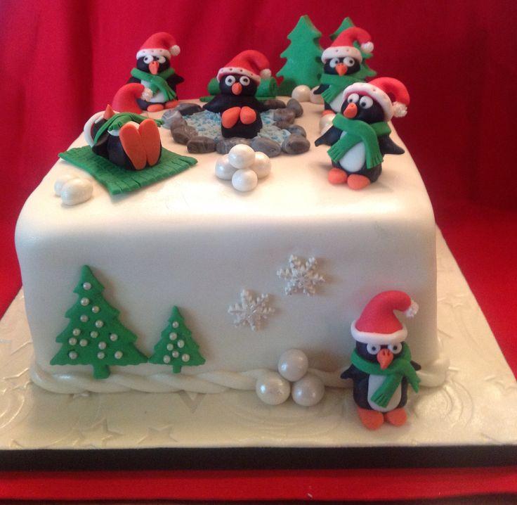 Penguins Xmas cake