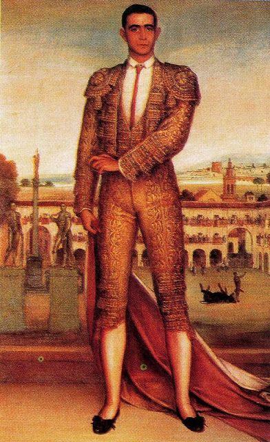 Machaquito como apoteosis del toreo Cordobés  1911-1912. Óleo y temple sobre lienzo. 165 x 104 cm.  Museo de Bellas Artes. Córdoba. España. 🎨🎨🎨