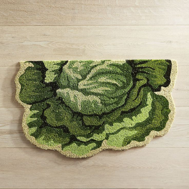 Easter Cabbage Shaped Doormat Green