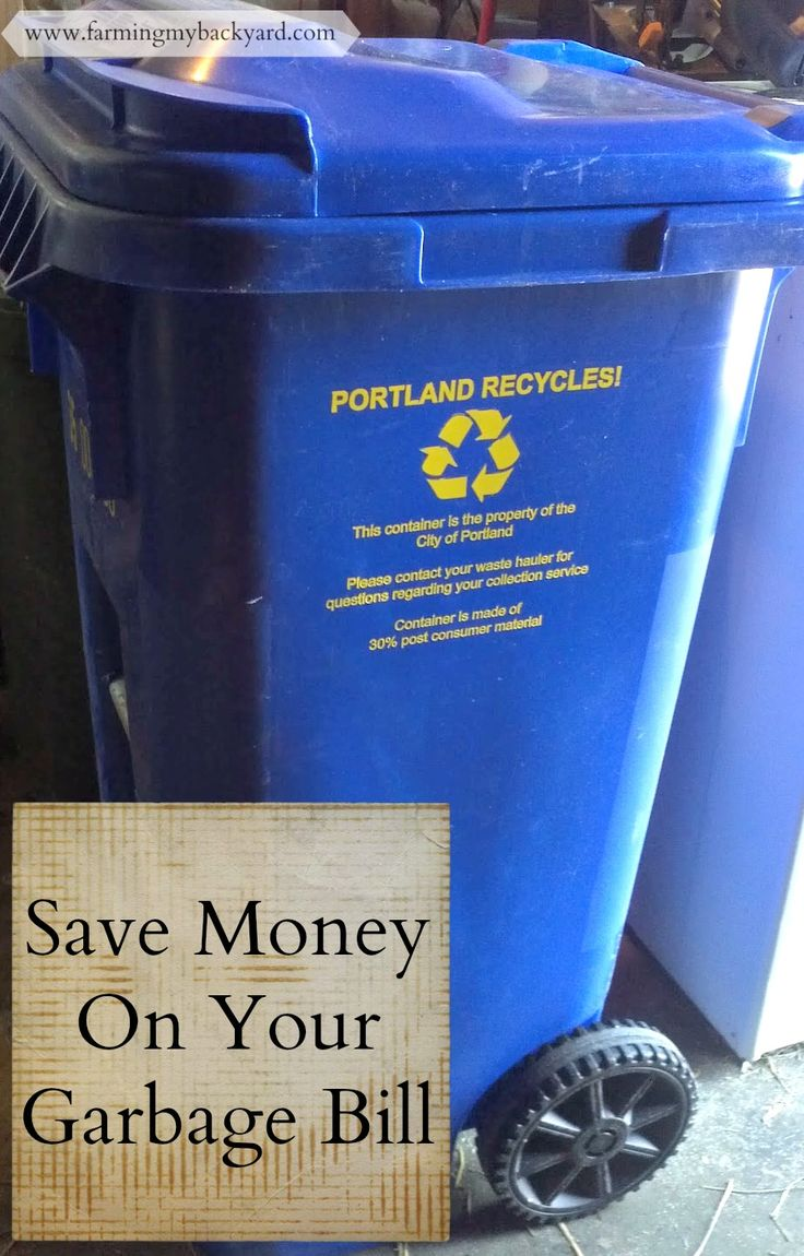 Can you save money on your garbage bill? Here are some ways we cut down expenses with our garbage pickup.