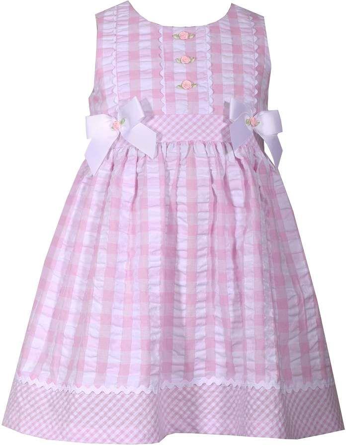 Bonnie Jean Baby Girl Checked Seersucker Dress