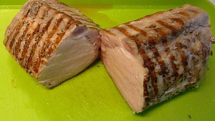 Lomo de cerdo cocinado a baja temperatura en bolsa de vacio