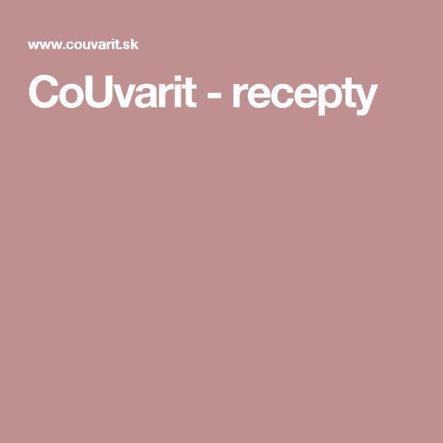 CoUvarit - recepty