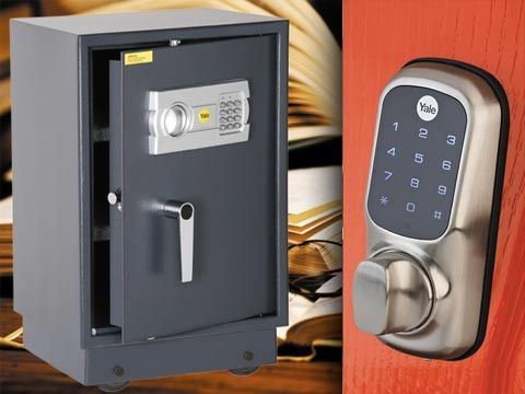 Win 1 of 3 Yale security hampers - each worth R8 400 - comprising a Keyless Digital Door lock and an Electronic Office Safe